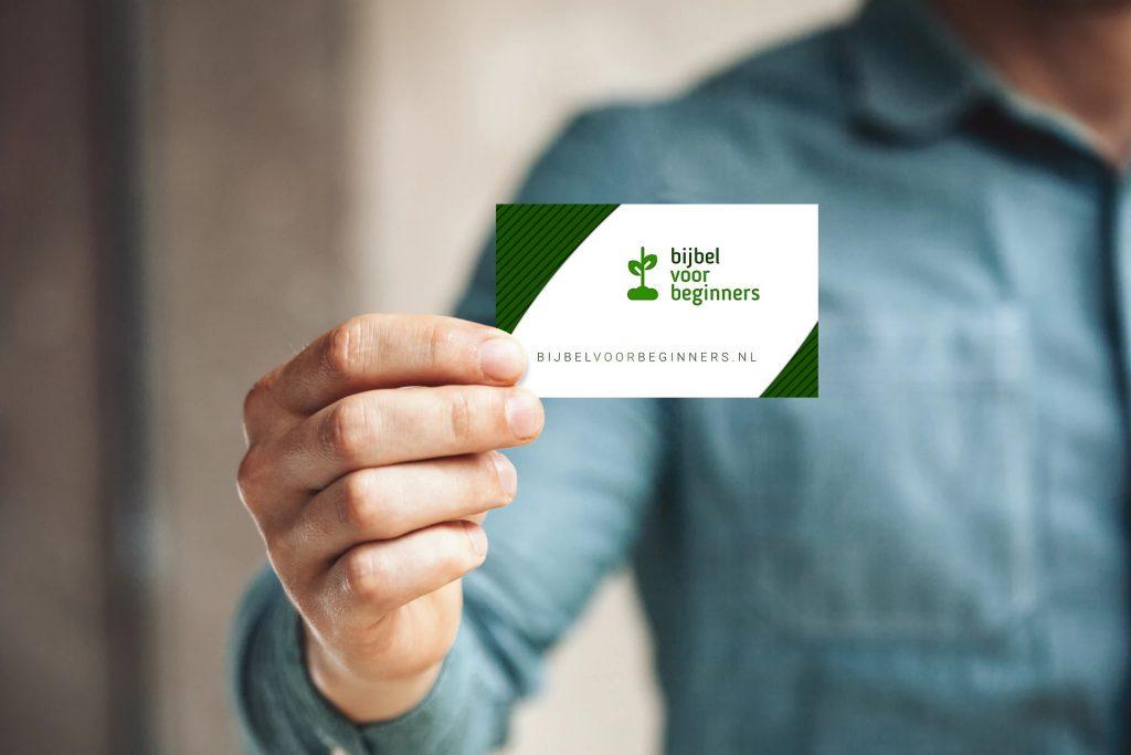 visitekaartje in hand